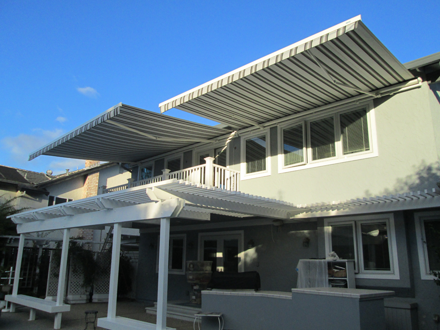 Retractable Awning Installed With A Weather Sensor