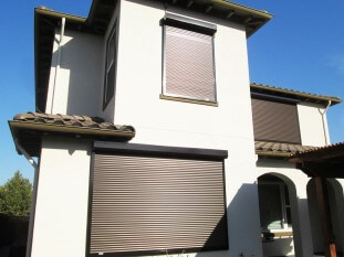 Exterior shutters brown
