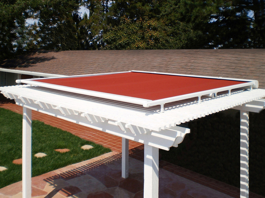 Retractable Pergola Covers With A Weather Sensor