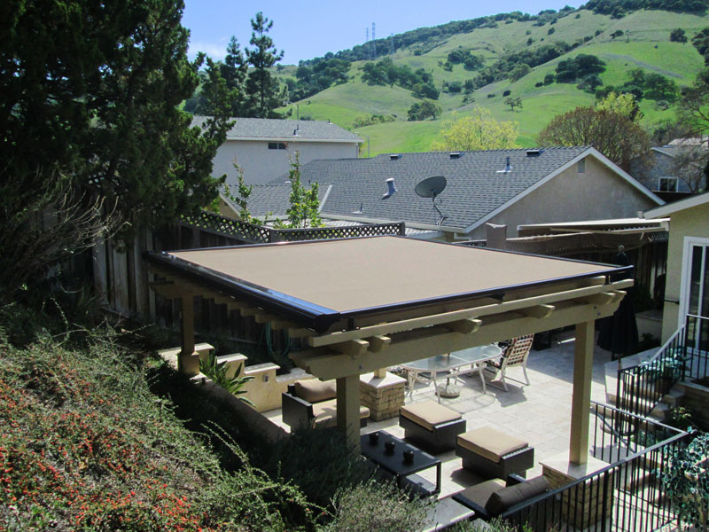 Motorized Arbor Awnings Motorized Arbor Awnings Pergola Cover Final.jpg - Retractable Pergola Covers ERS Shading San Jose, CA