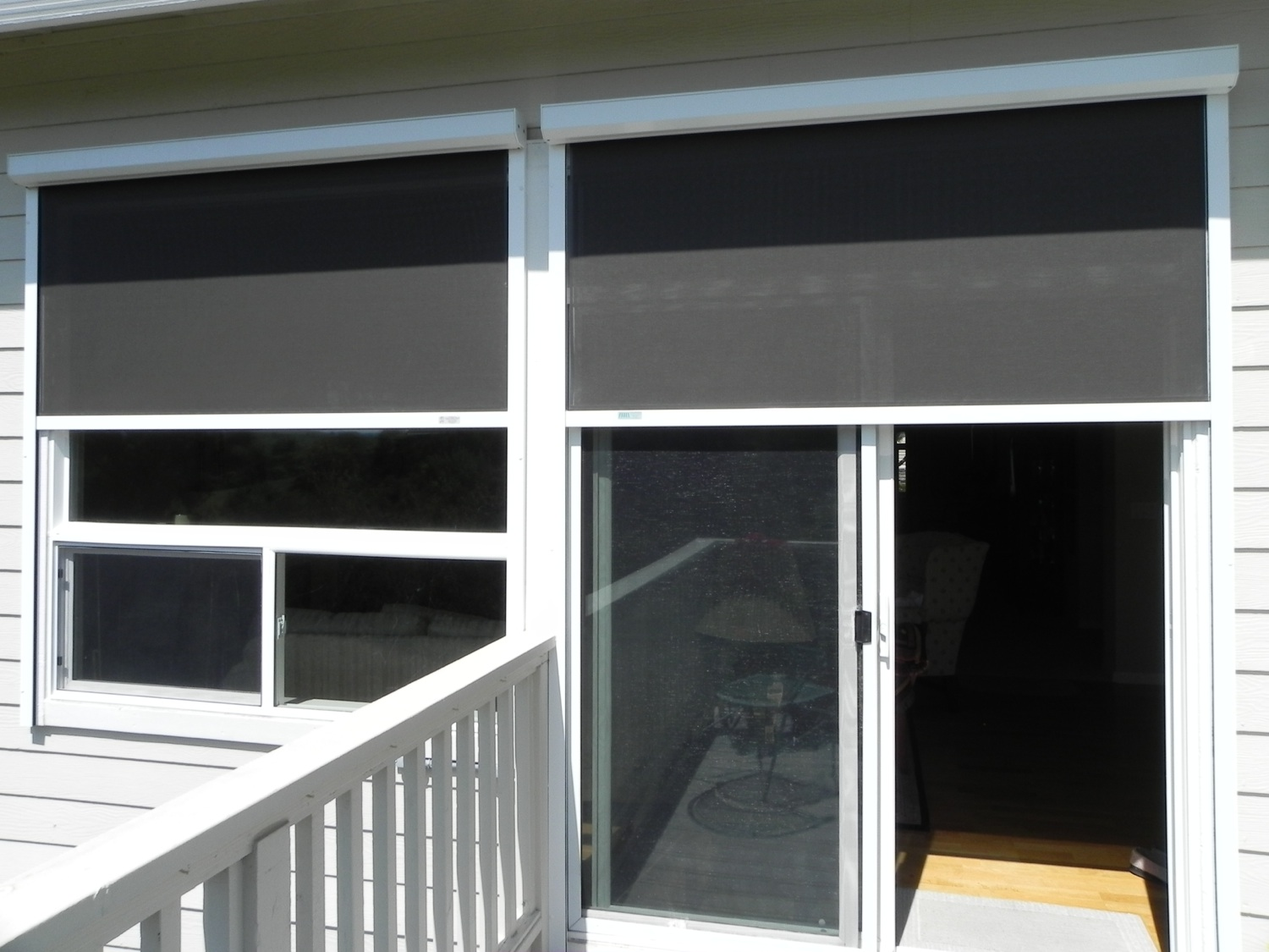 Exterior sun shades for windows - Solar Screens Windows