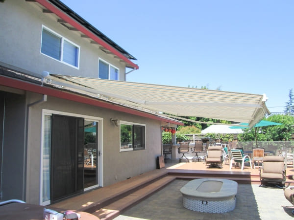 Installed Weather Sensor on Retractable Awning is Hidden from View