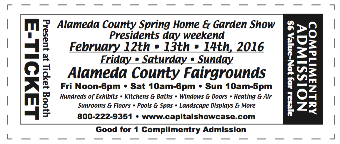 2016 Home & Garden Show e-tickets