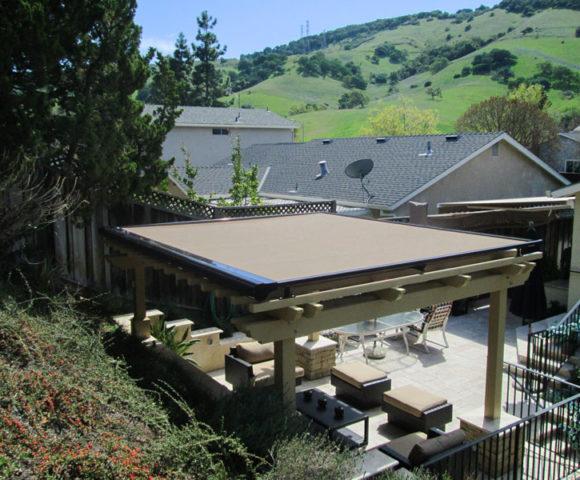 outdoor electric pergola cover - Retractable Pergola Covers ERS Shading San Jose, CA