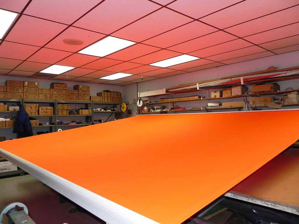 orange retractable awning from ERS
