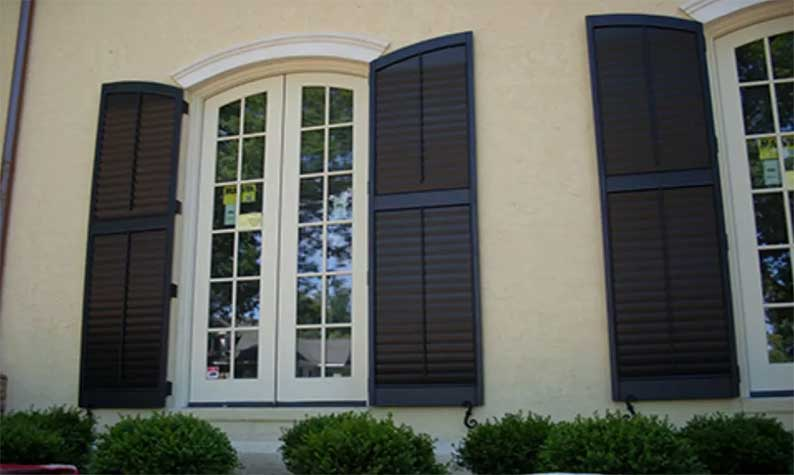 Shaker Storm Shutters have more of a traditional shutter look
