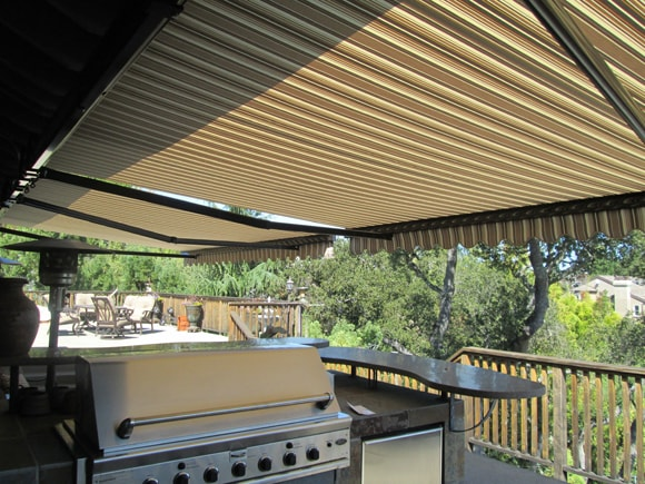 backyard kitchen shading