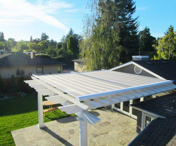 backyard motorized pergola cover