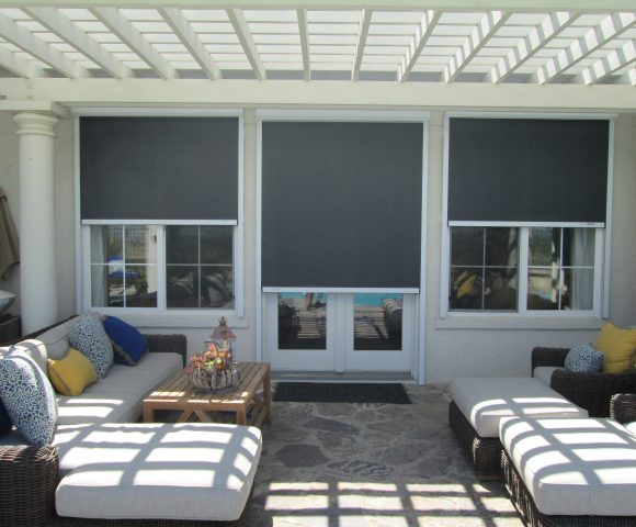 backyard window automated solar screens