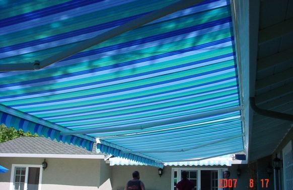 blue awning