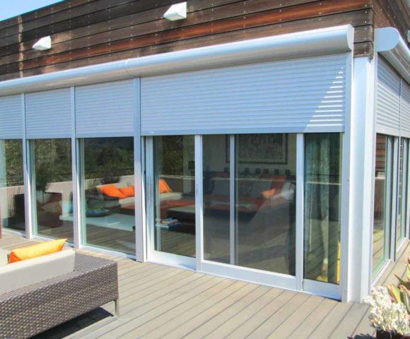 european rolling shutters motorized retractable shades san jose