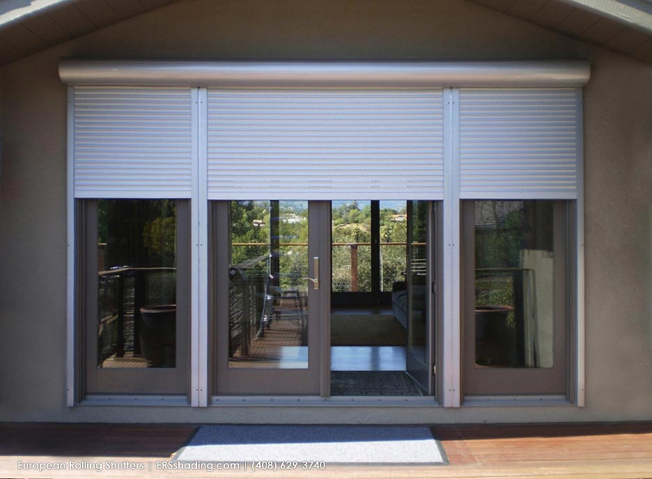 Exterior Rolling Shutters provide heavy-duty protection from storms