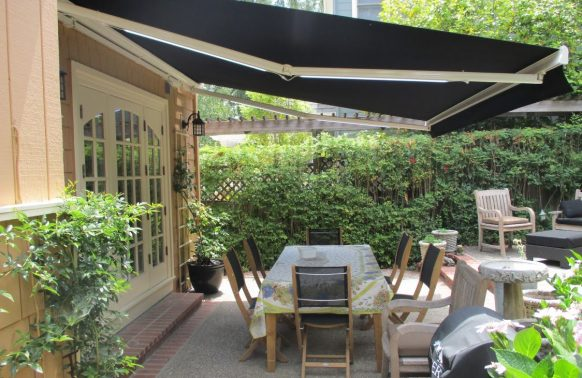 Retractable Awnings Photo Garden