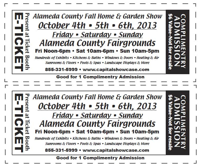 Alameda County Home and Garden Show - Fall 2013 - Free tickets