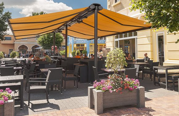 Markilux Syncra Retractable Awnings for Outdoor Caffe