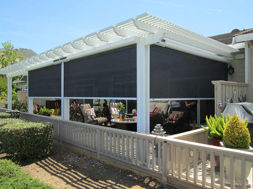 the modern pergola ideal outdoor living european rolling shutters. Black Bedroom Furniture Sets. Home Design Ideas