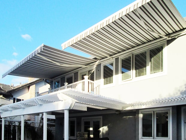 modern european retractable awnings in san jose