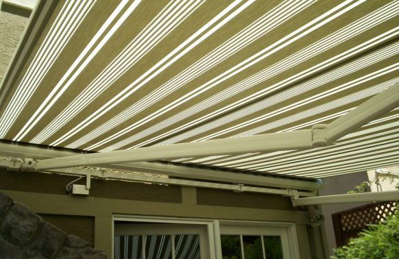 olive green awning