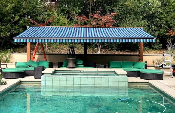 Retractable Awnings installation Pool Solution