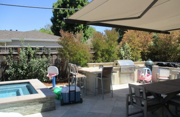 Retractable Awnings installation for your pool and backyard