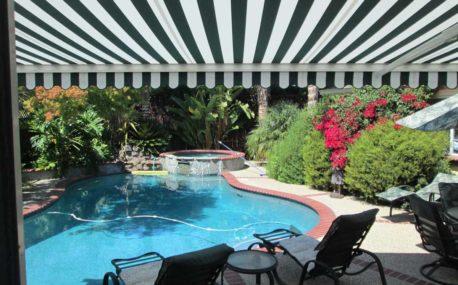 swimming pool shades backyard awning